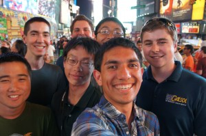 CalSol Team Picture in Time Square